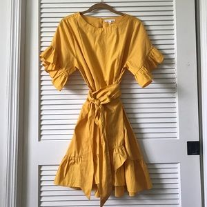 Beautiful mustard dress